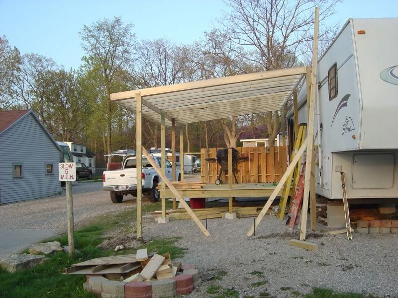 Deck our camper for Rv with roof deck